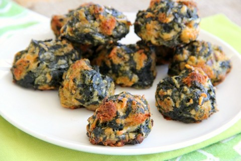Spinach Balls are perfect Game Day nibble on www.ShockinglyDelicious.com