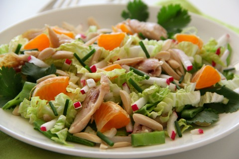 Chinese Chicken Radish Salad | www.ShockinglyDelicious.com