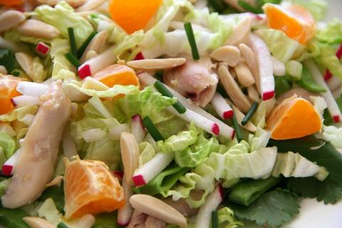 Chinese Chicken Radish Salad   www.ShockinglyDelicious.com