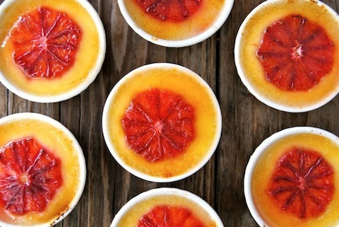 Blood Orange Champagne Creme Brulee from Cooking on the Weekends