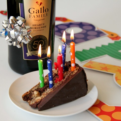 Happy 50th Birthday Gallo Hearty Burgundy \ www.ShockinglyDelicious.com