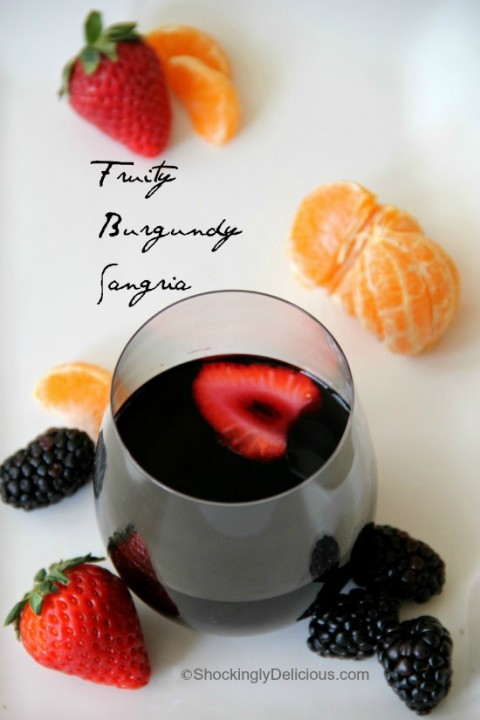 Fruity Burgundy Sangria | www.ShockinglyDelicious.com