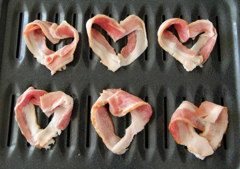 Bacon Hearts in the Oven | www.ShockinglyDelicious.com