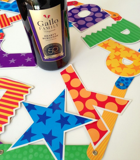 Happy Birthday Gallo Hearty Burgundy \ www.ShockinglyDelicious.com