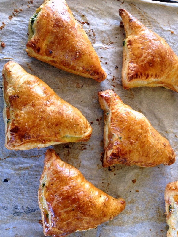 Gruyere and Greens Turnovers | www.ShockinglyDelicious.com