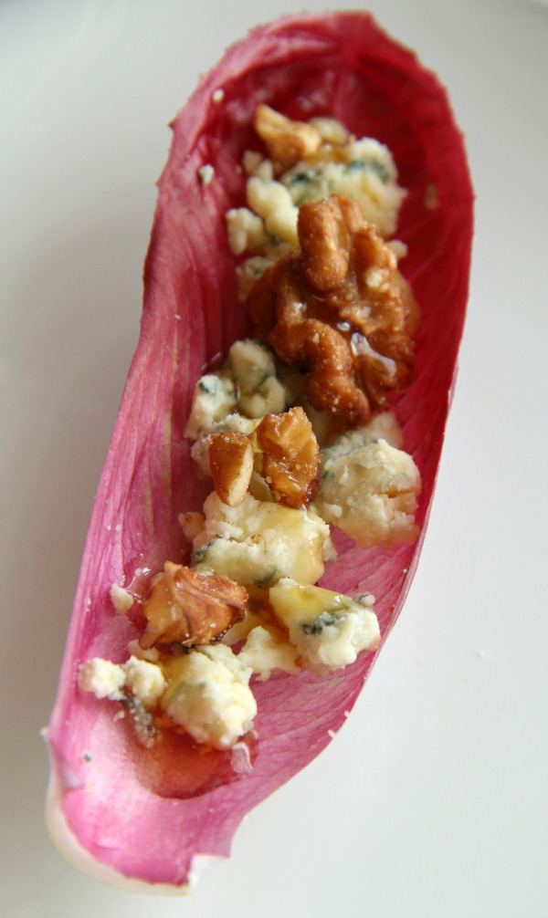 Endive Stuffed with Blue Cheese, Walnuts and Honey | www.ShockinglyDelicious.com