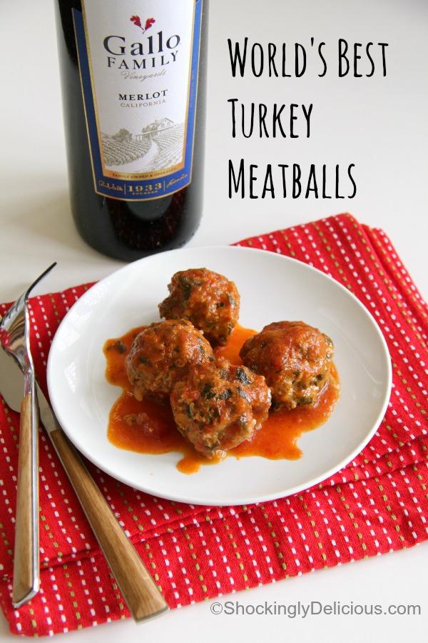 World's Best Turkey Meatballs | www.ShockinglyDelicious.com