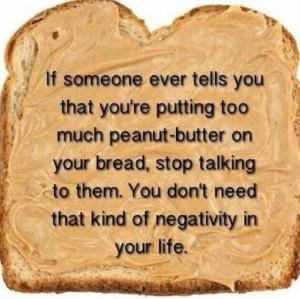 Peanut Butter on bread on ShockinglyDelicious.com
