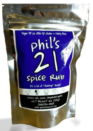 Phil's 21 Spice Rub on Shockingly Delicious