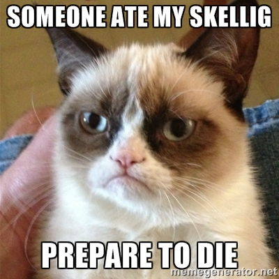 Grumpy Cat Skellig meme on Shockingly Delicious