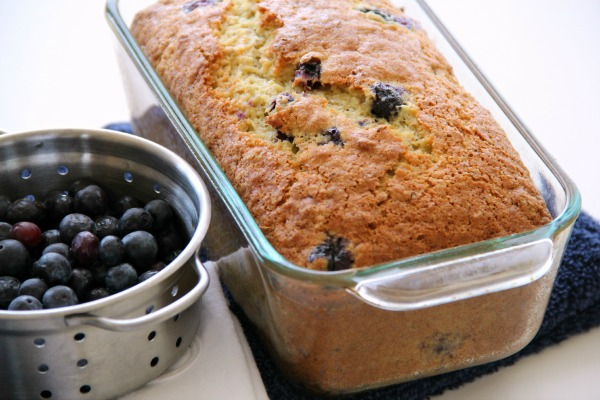 Blueberry Dreamsicle Orange Lower-Fat Quick Bread | www.ShockinglyDelicious.com