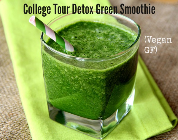 College Tour Detox Green Smoothie (Vegan, GF) | www.ShockinglyDelicious.com