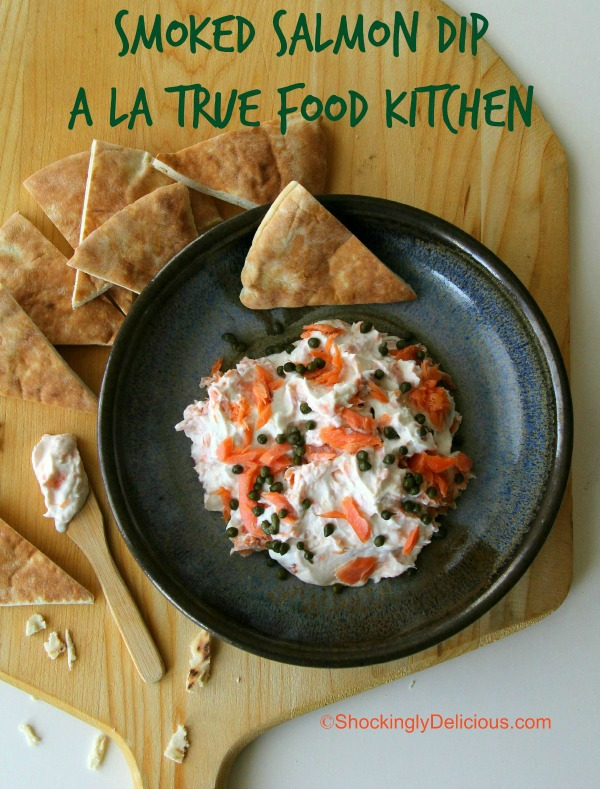 Smoked Salmon Dip with Greek Yogurt and Capers   www.ShockinglyDelicious.com