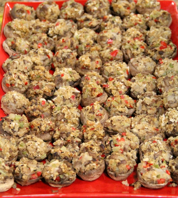 Spicy Stuffed Mushrooms on Shockingly Delicious