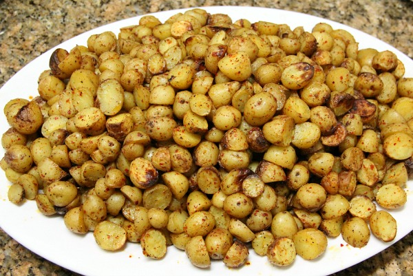 Chile Roasted Dutch Yelllow Potatoes on Shockingly Delicious