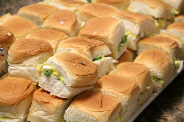 Egg Salad Sandwiches with Pepper Relish on Shockingly Delicious