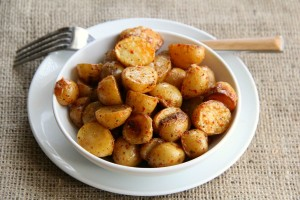 Chile-Roasted Dutch Yellow Potatoes on ShockinglyDelicious.com