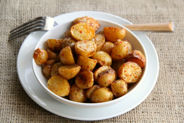 Chile-Roasted Dutch Yellow Potatoes | www.ShockinglyDelicious.com