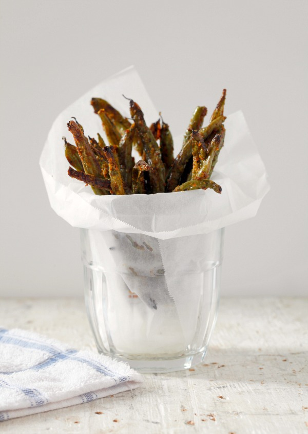 Green Bean Fries | ShockinglyDelicious.com | photo by Kelsey Kinser