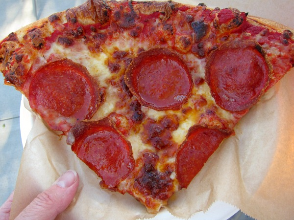 Artisan Pepperoni Pizza at Dodger Stadium on Shockingly Delicious