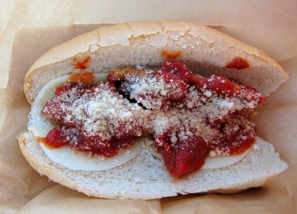 Chicken Parmesan Sandwich at Dodger Stadium on Shockingly Delicious