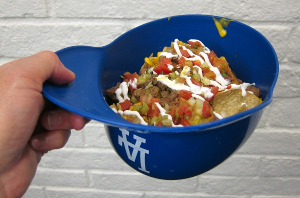Nachos Helmet at Dodger Stadium on Shockingly Delicious