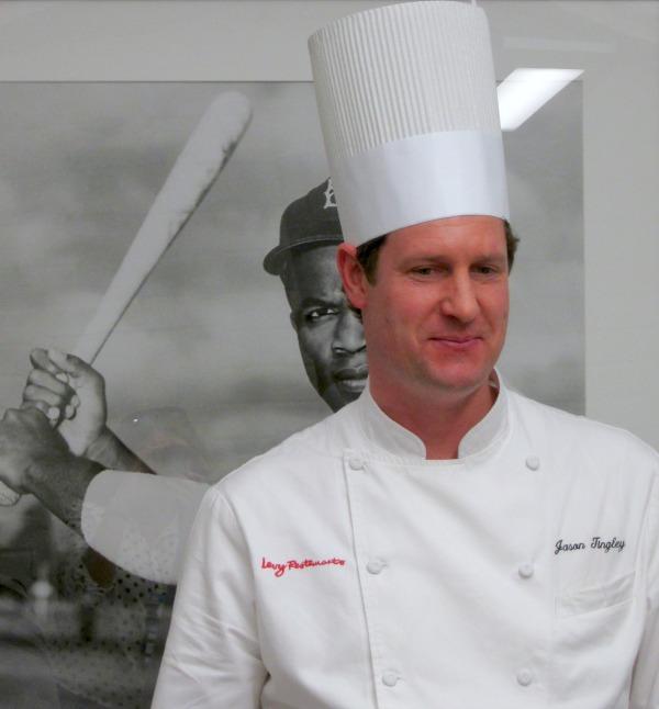 Chef Jason Tingley at Dodger Stadium on Shockingly Delicious