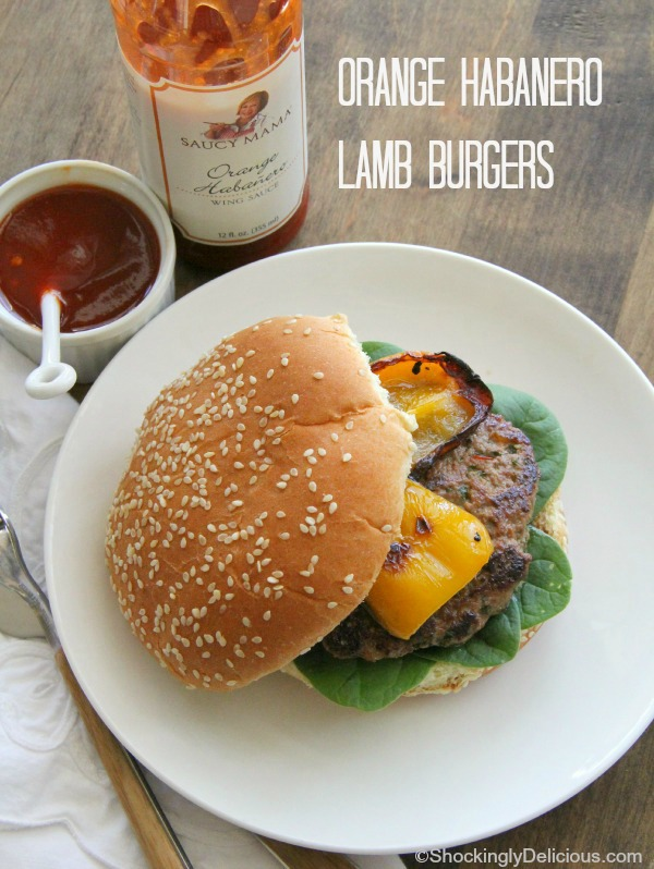 Orange Habanero Lamb Burgers | ShockinglyDelicious.com