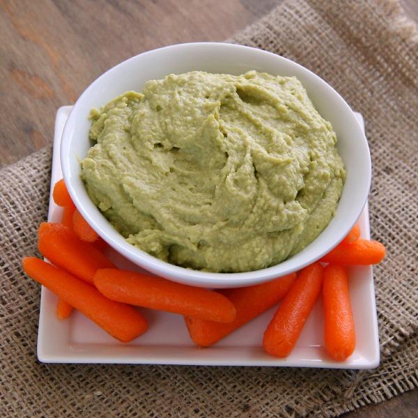 Avocado Hummus (Vegan) | ShockinglyDelicious.com