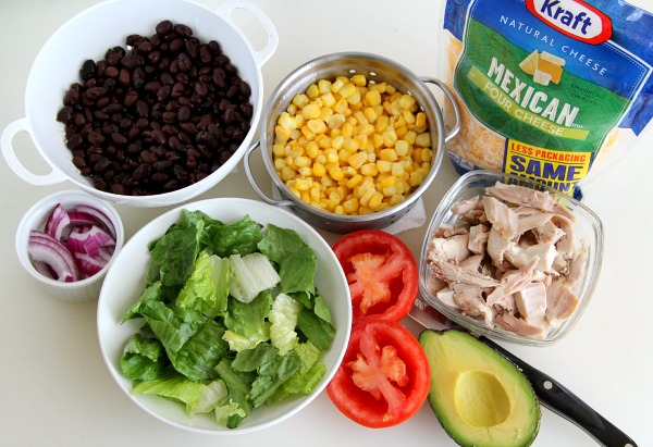 Ingredients for Chopped Mexican Chicken Salad | Shockingly Delicious.com