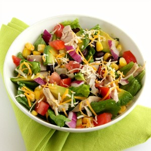 Chopped Mexican Chicken Salad | Shockingly Delicious.com