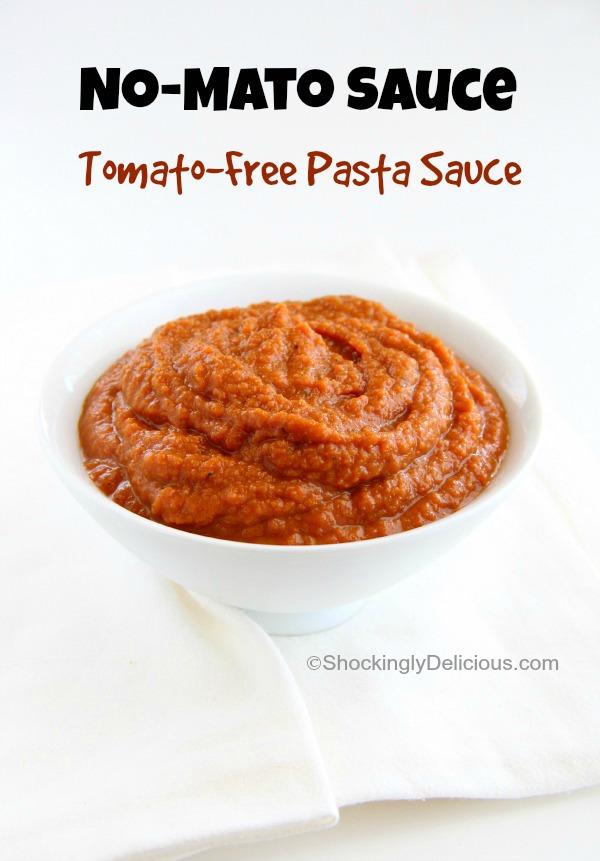 No-Mato Sauce (Tomato-Free Pasta Sauce) | ShockinglyDelicious.com