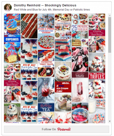 Red White and Blue Pin Board from ShockinglyDelicious.com