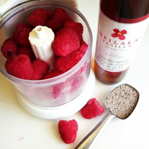 Raw Raspberry-Vanilla Chia Jam | ShockinglyDelicious.com