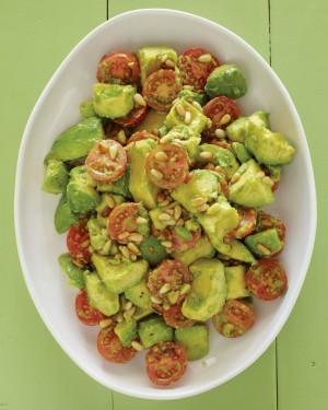 Avocado, Cherry Tomato, Pine Nut, Lime Vinaigrette Salad | ShockinglyDelicious.com