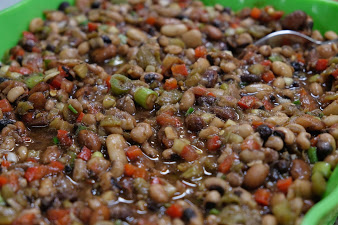 Six Bean Salad | Hatch Chile recipe | ShockinglyDelicious.com