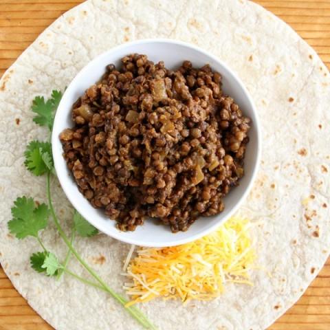 Triple Hatch Chile Lentil Tacos | ShockinglyDelicious.com