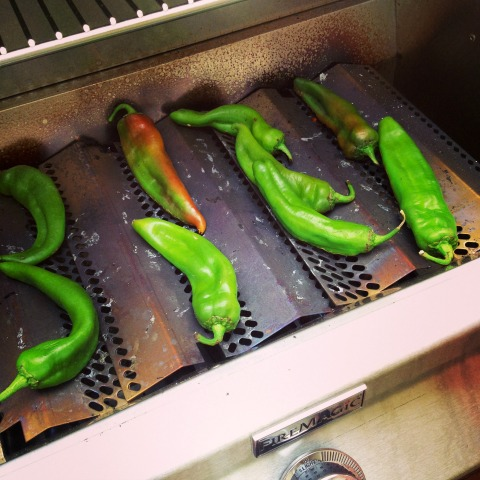 How to Grill Hatch Chiles on the Outdoor Grill | ShockinglyDelicious.com