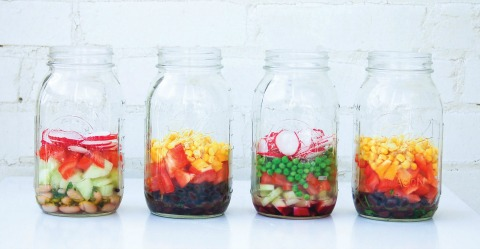 How to Assemble Mason Jar Salads | ShockinglyDelicious.com