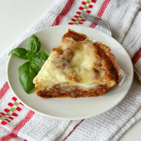Impossible Lasagna Pie | ShockinglyDelicious.com
