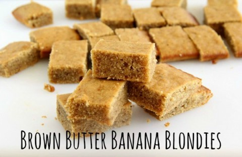 Brown Butter Banana Blondies | ShockinglyDelicious.com