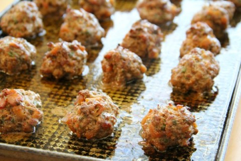 Caramelized Onion-Apple Meatballs with Herbs | ShockinglyDelicious.com