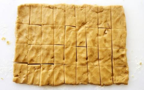 Brown Sugar Shortbread cut on ShockinglyDelicious.com