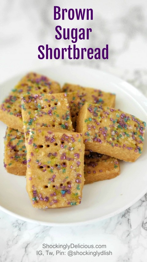 Brown Sugar Shortbread on ShockinglyDelicious.com