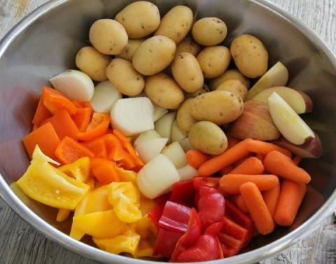 Fall Harvest Roasted Vegetable Bowl   www.ShockinglyDelicious.com