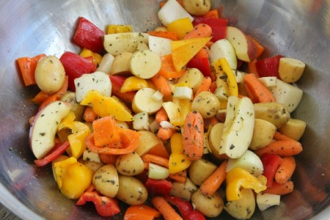 Fall Harvest Roasted Vegetable Bowl | www.ShockinglyDelicious.com