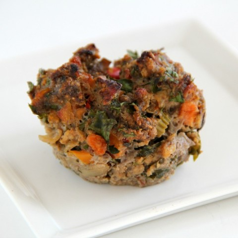Cherry Chipotle Meat Loaf Cupcakes | ShockinglyDelicious.com