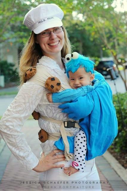 Milk and cookies costume for Halloween   ShockinglyDelicious.com