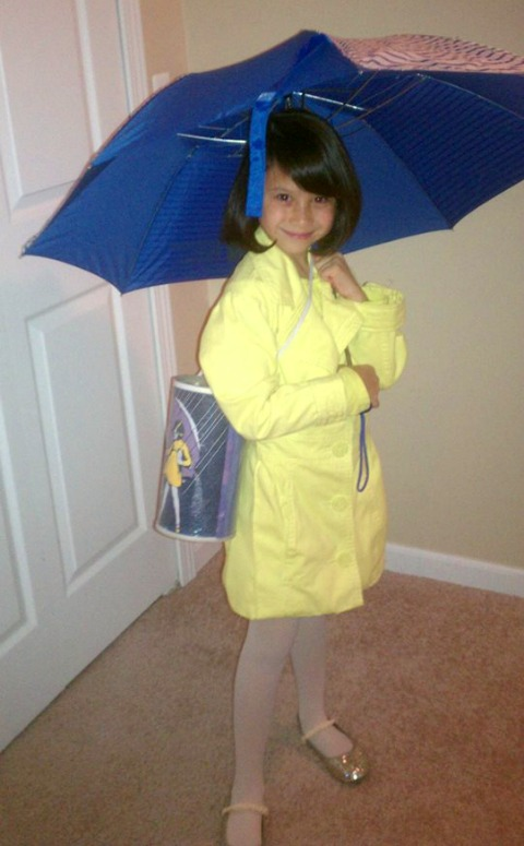 Morton Salt Girl costume for Halloween | ShockinglyDelicious.com