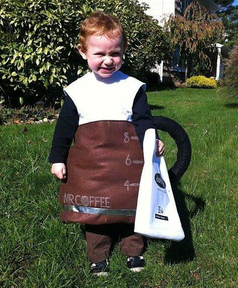 Pot of coffee costume for Halloween | ShockinglyDelicious.com  sc 1 st  Shockingly Delicious & Costumes for Food Bloggersu0027 Kids | Halloween food costumes for kids ...